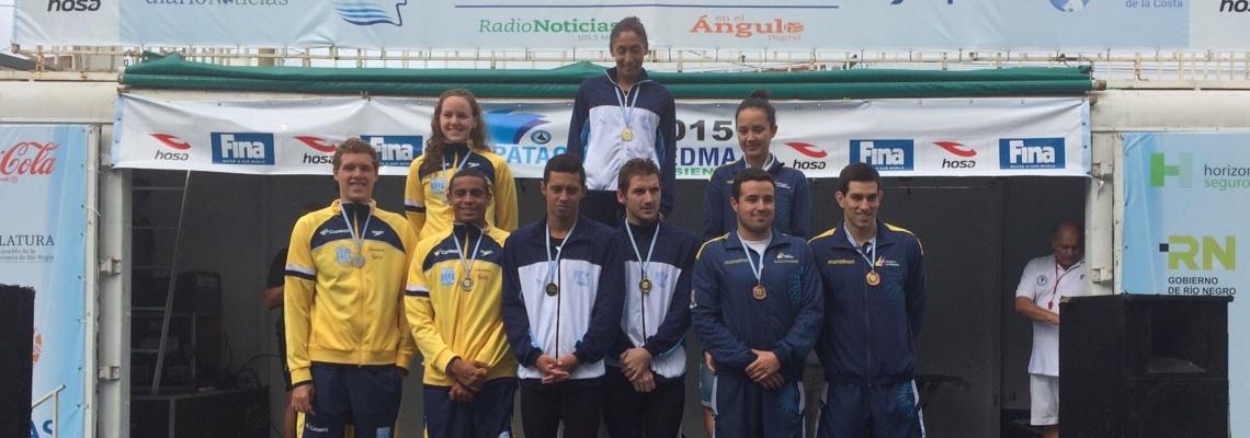 Maratonas Aquáticas - Brasil conquista prata no revezamento e termina em terceiro no geral