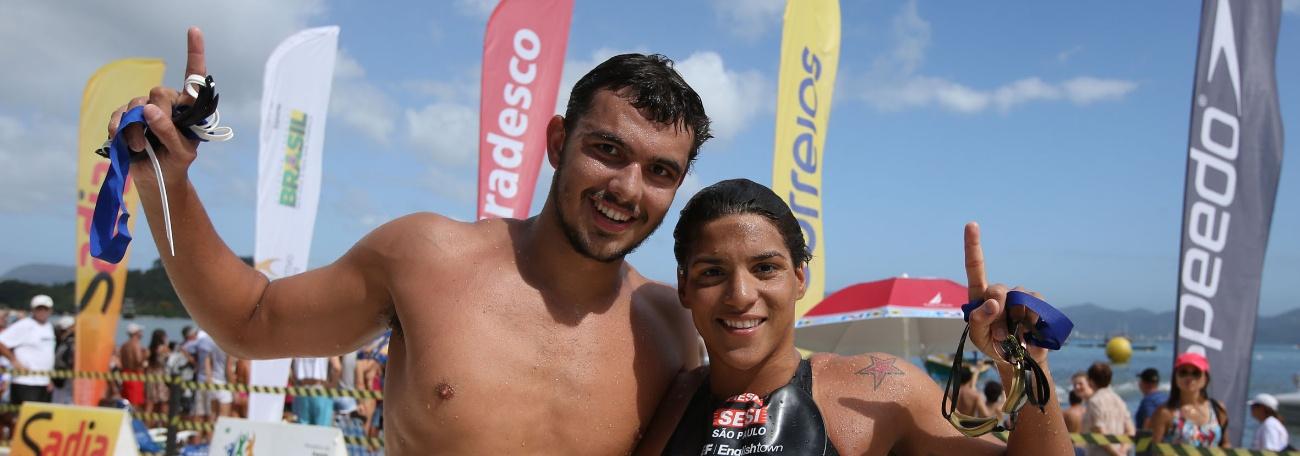Maratonas Aquáticas - Ana Marcela e Victor Colonese vencem primeira etapa