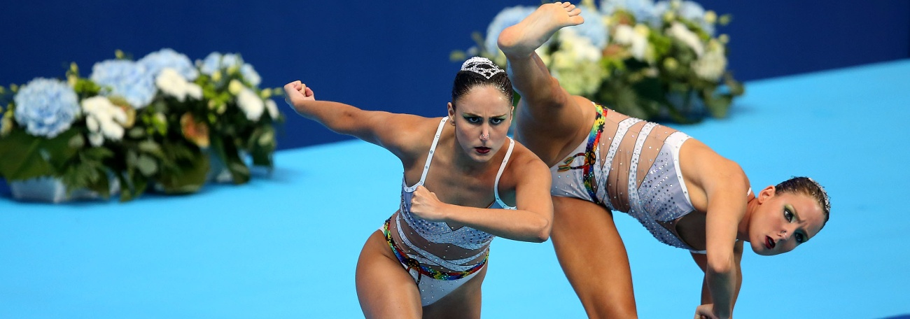 Nado Sincronizado - Capoeira coloca Duda e Luisa entre as 15 do Mundial
