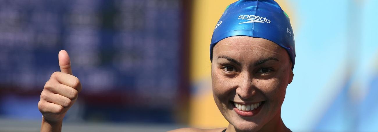 Maratonas Aquáticas - Poliana conquista bronze e é vice-campeã do Circuito Mundial