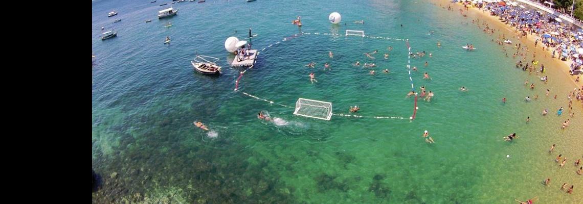 Pólo Aquático - Praia do Forte recebe campeonato brasileiro de Polo Aquático de Praia