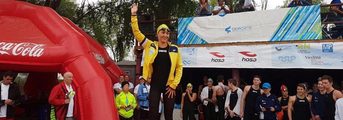 Maratonas Aquáticas - Poliana é prata em Viedma e Brasil começa bem circuito 2017