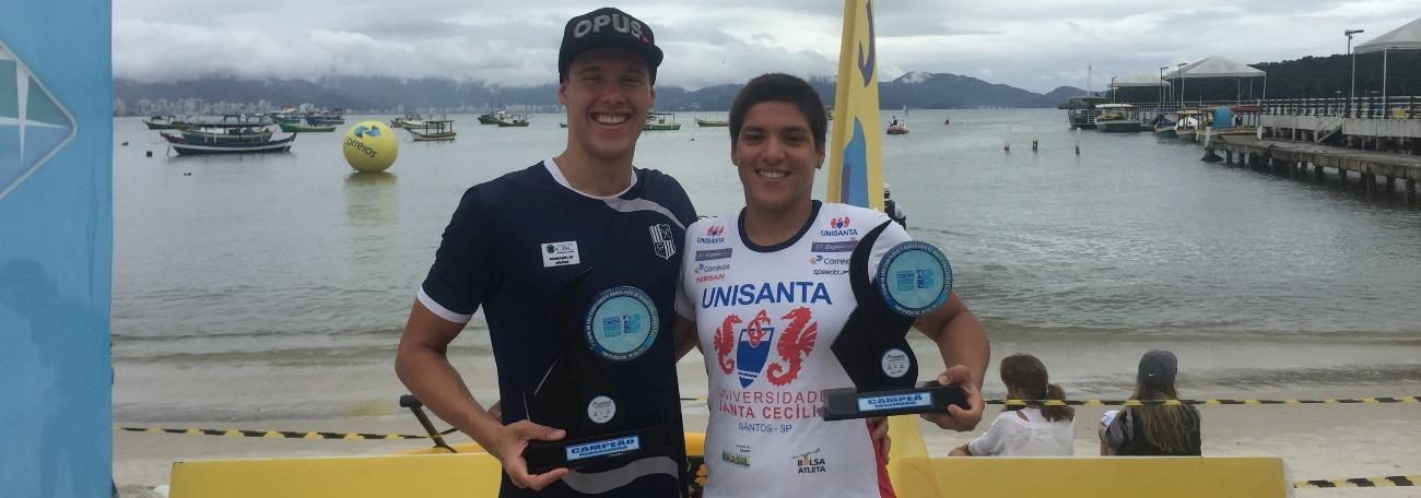Ana Marcela e Diogo Villarinho vencem em Porto Belo