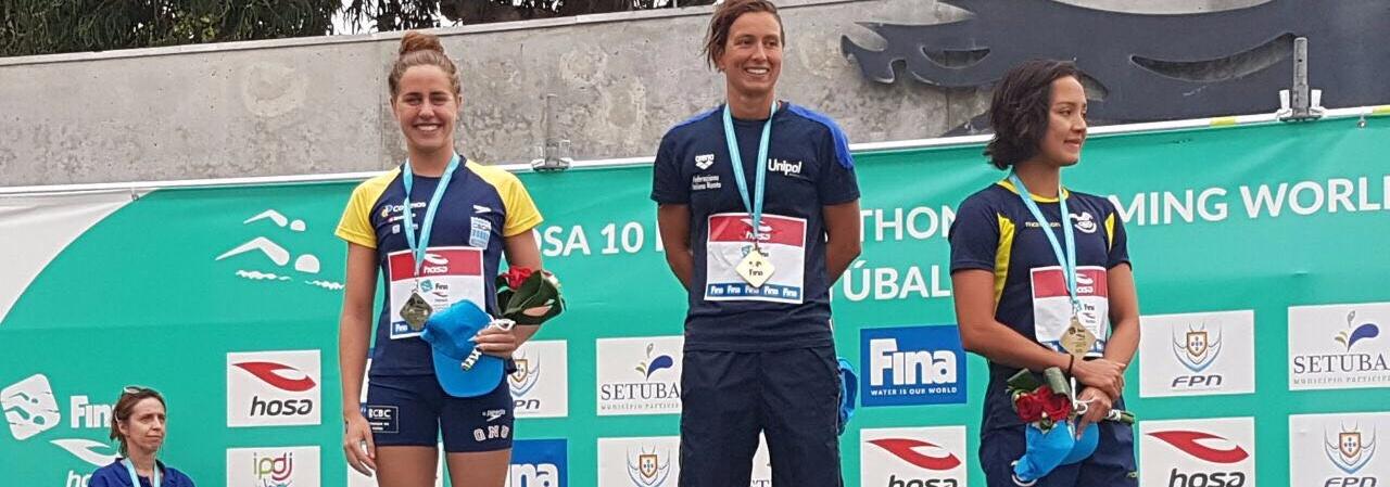 Maratonas Aquáticas - Viviane Jungblut é prata na etapa de Setúbal da Copa do Mundo