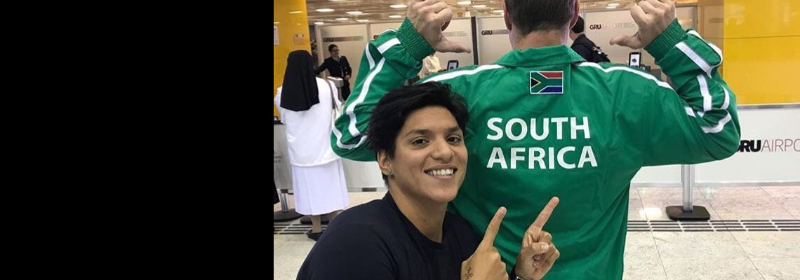 Ana Marcela embarca para África do Sul