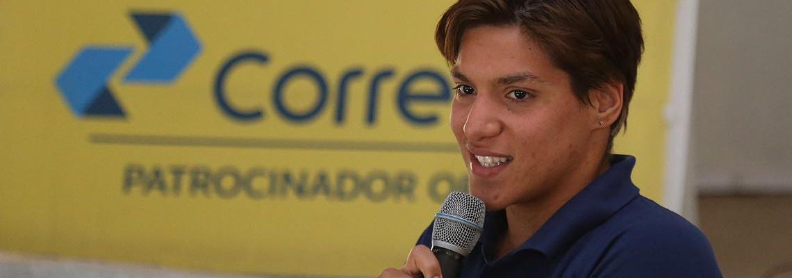 Maratonas Aquáticas - Ana Marcela palestra durante o Congresso Técnico em Brasília