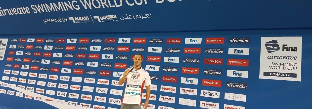 Nelson Junior conquista mais uma medalha na Copa do Mundo de Natação