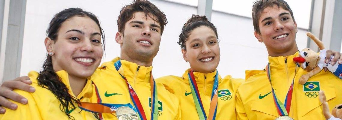 Natação do Brasil encerra Jogos Sul-Americanos com mais de 40 medalhas