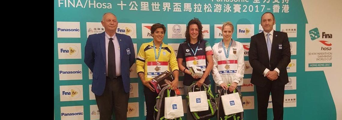 Maratonas Aquáticas - Ana Marcela e Allan do Carmo conquistam medalhas e terminam ano na vice-liderança da Copa do Mundo
