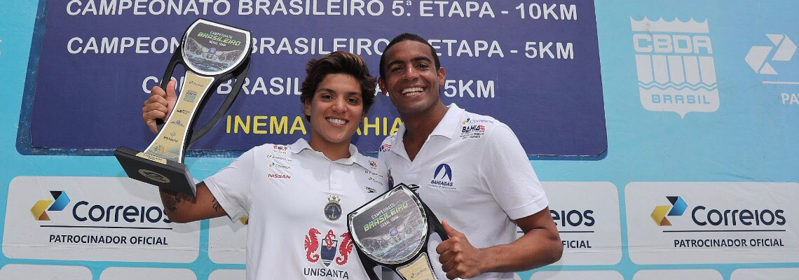 Maratonas Aquáticas - Ana Marcela e Allan do Carmo vencem a 5ª etapa do Brasileiro de 10km de Maratonas Aquáticas