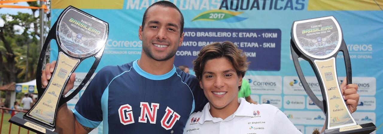 Maratonas Aquáticas - Ana Marcela e Fernando Ponte são campeões do Campeonato Brasileiro de Maratonas de 2017