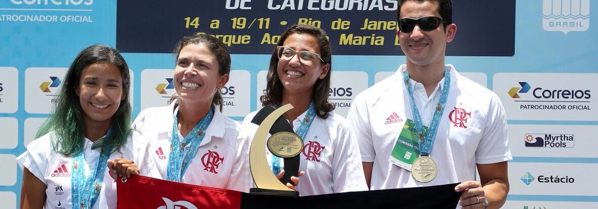 Nado Sincronizado - Flamengo, Fluminense e Paineiras levam títulos por equipes no Brasileiro de Categorias