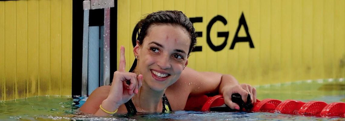 Natação - Em dia de despedida de Poliana Okimoto, Jhennifer Conceição bate recorde sul-americano