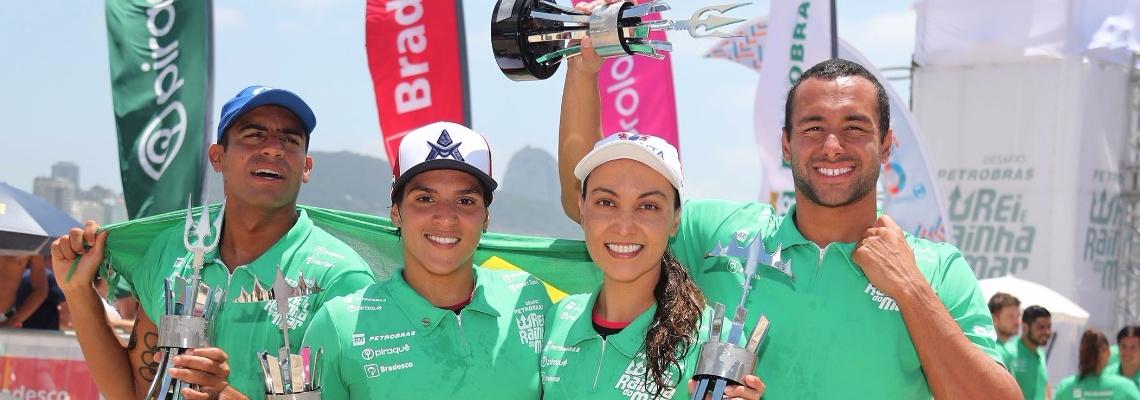 Maratonas Aquáticas - Brasil vence Desafio Rei e Rainha do mar no adeus da medalhista olímpica Poliana Okimoto