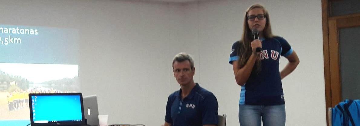 Maratonas Aquáticas - Viviane Jungblut e Christiano Klasler ministram palestra em Porto Alegre