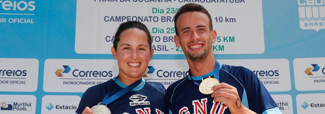 Maratonas Aquáticas - Atletas do GNU vencem prova de 10 km do Campeonato Brasileiro de maratonas aquáticas