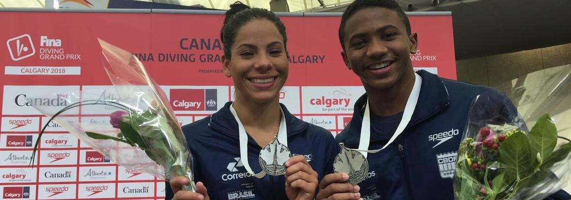 Ingrid Oliveira e Isaac Souza conquistam a medalha de prata no Grand Prix do Canadá