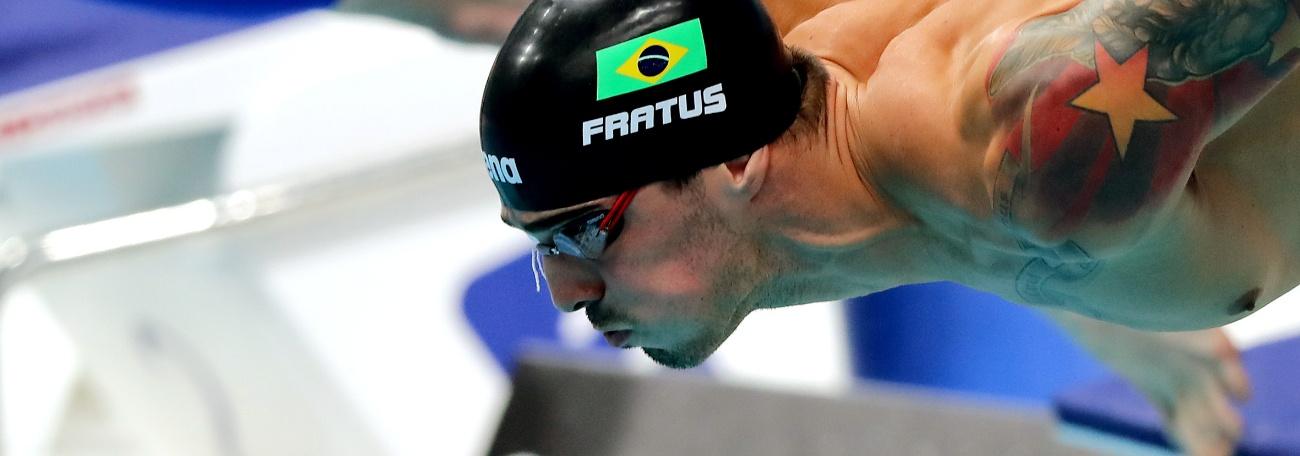 Natação - Bruno Fratus conquista mais uma medalha de ouro no Circuito Mare Nostrum