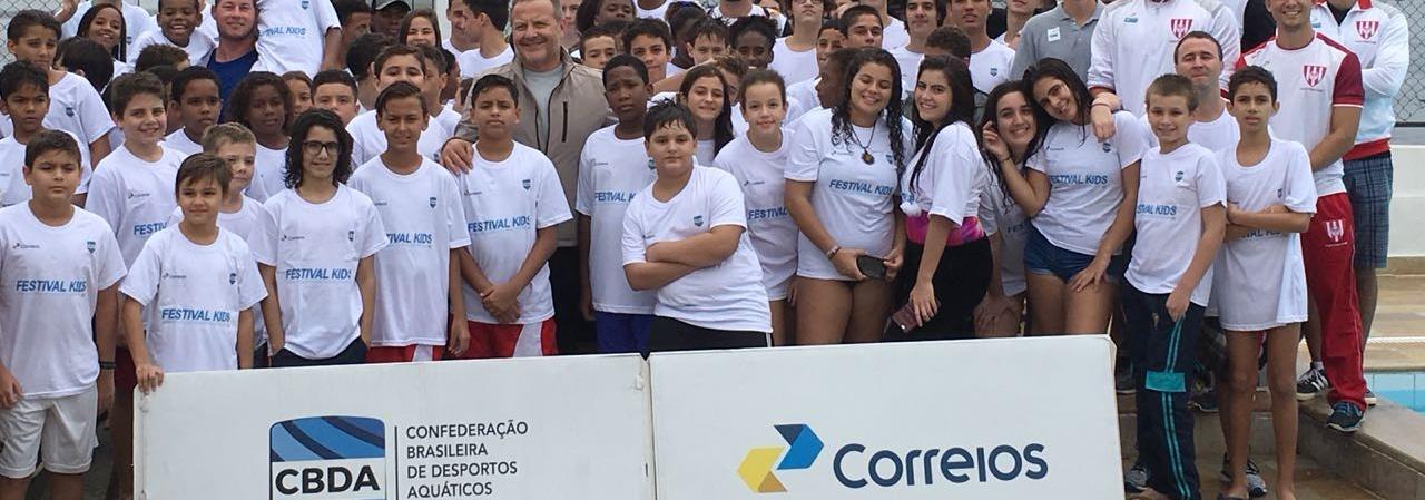 Pólo Aquático - Com mais de 120 crianças e adolescentes, Festival Kids de Pólo Aquático é realizado no Rio de Janeiro