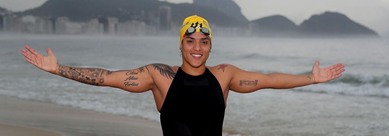 Sala dos Atletas: Primeira tricampeã mundial, Ana Marcela Cunha quer fazer ainda mais história na Maratona Aquática