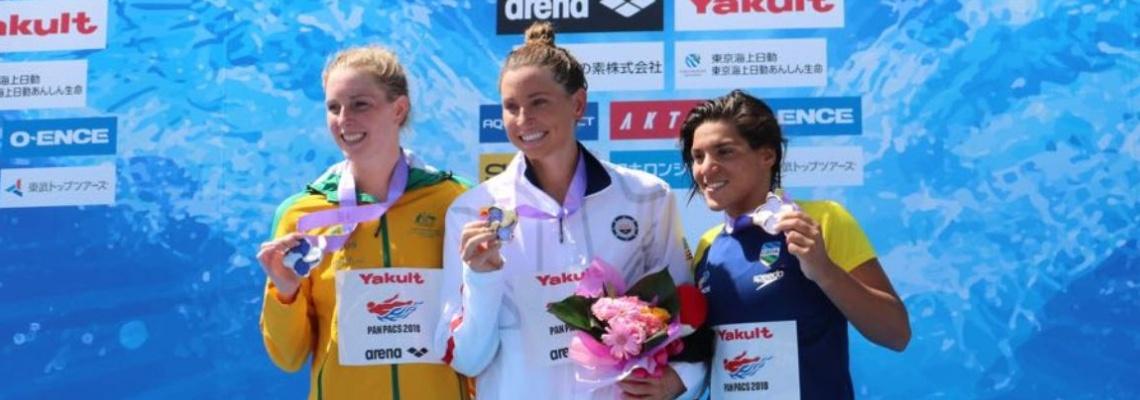 Maratonas Aquáticas - Ana Marcela é bronze na prova de Maratonas Aquáticas do Pan-Pacífico