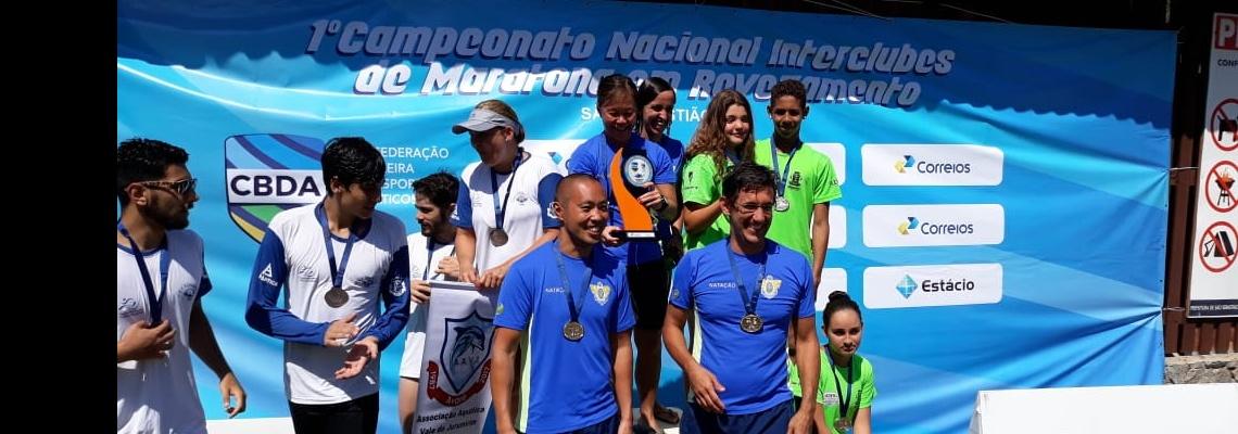 Maratonas Aquáticas - Círculo Militar vence 1º Campeonato Nacional de Maratonas Aquáticas em revezamento