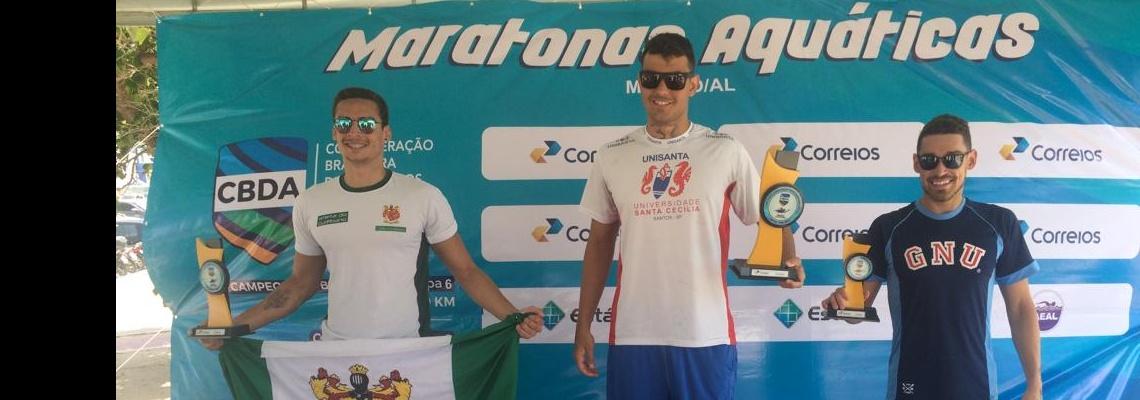 Maratonas Aquáticas - Victor Colonese e Aricia Peree vencem provas do Campeonato Brasileiro de Maratonas Aquáticas