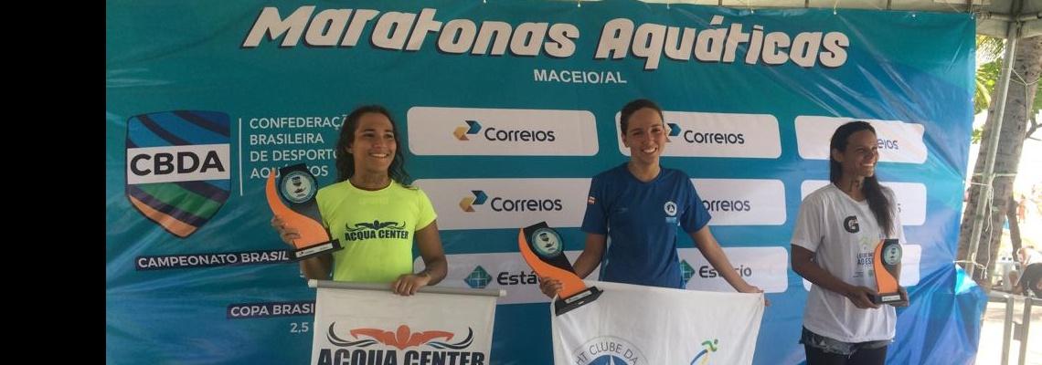 Maratonas Aquáticas - Marcia Santos e Raul Lessa vencem disputa de 5 km da Copa Brasil de Maratonas Aquáticas