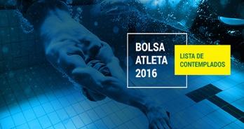 Natação - LISTA DE CONTEMPLADOS - BOLSA ATLETA 2016 - PUBLICADO