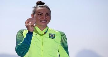 Maratonas Aquáticas - Poliana, Brasil faz sua primeira medalhista olímpica nos esportes aquáticos