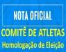 CBDA - ELEIÇÕES 2017 - CBDA - Homologação - Comitê de Atletas