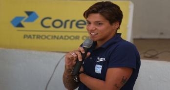 Ana Marcela palestra durante o Congresso Técnico em Brasília