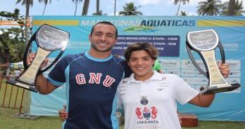 Ana Marcela e Fernando Ponte são campeões do Campeonato Brasileiro de Maratonas de 2017