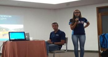 Viviane Jungblut e Christiano Klasler ministram palestra em Porto Alegre