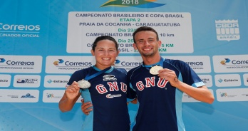 Atletas do GNU vencem prova de 10 km do Campeonato Brasileiro de maratonas aquáticas