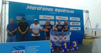 Betina Lorscheitter e Victor Colonese brilham de novo e vencem os 5 km do Campeonato Brasileiro