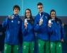 Natação - Revezamento 4x100m livre misto é prata nos Jogos Olímpicos da Juventude