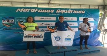 Marcia Santos e Raul Lessa vencem disputa de 5 km da Copa Brasil de Maratonas Aquáticas