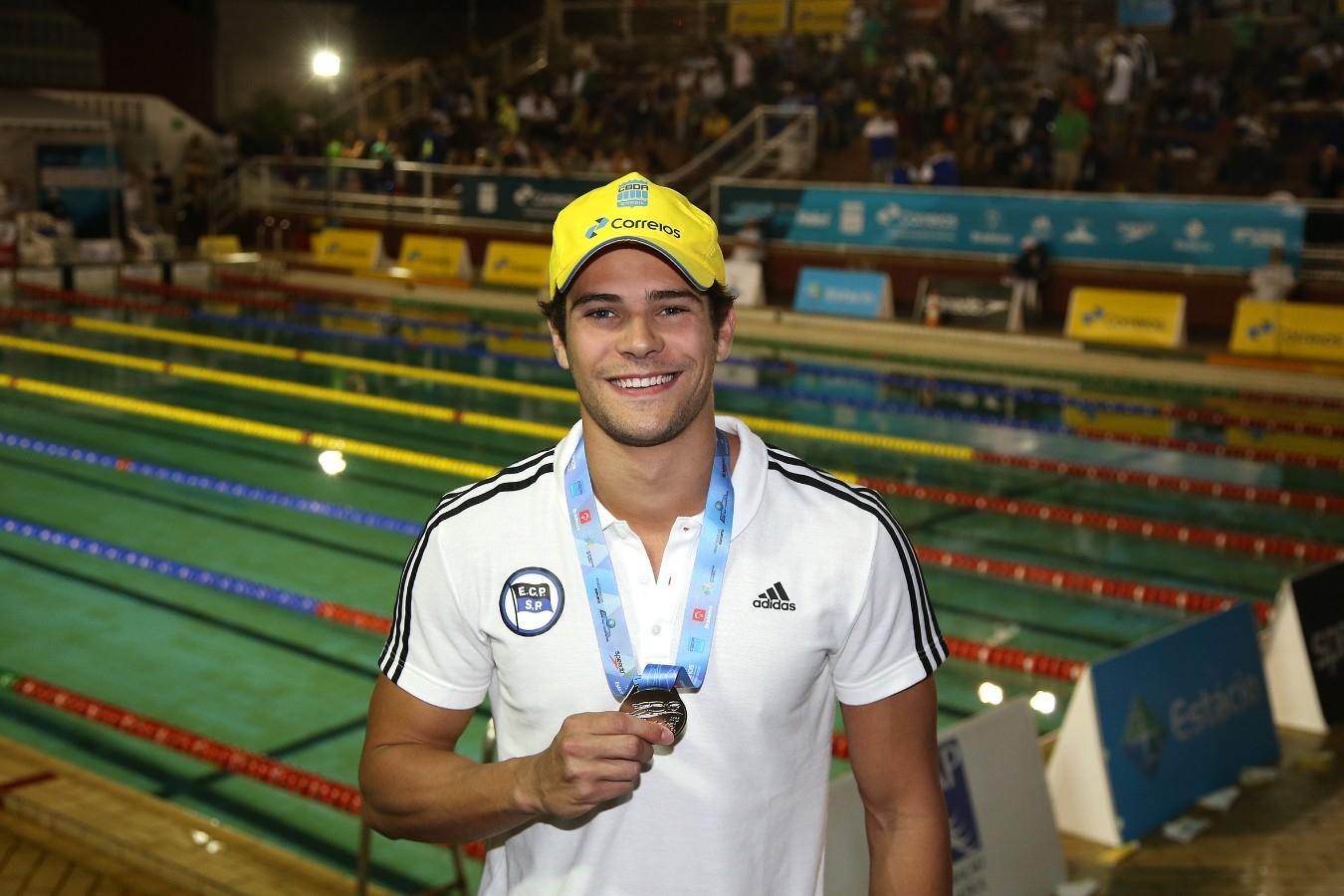 Marcelo - Trofeu Jose Finkel de Natacao no Clube Internacional de Regatas. 14 de Setembro de 2016, Santos, SP, Brasil. Foto:Satiro Sodré/SSPress.