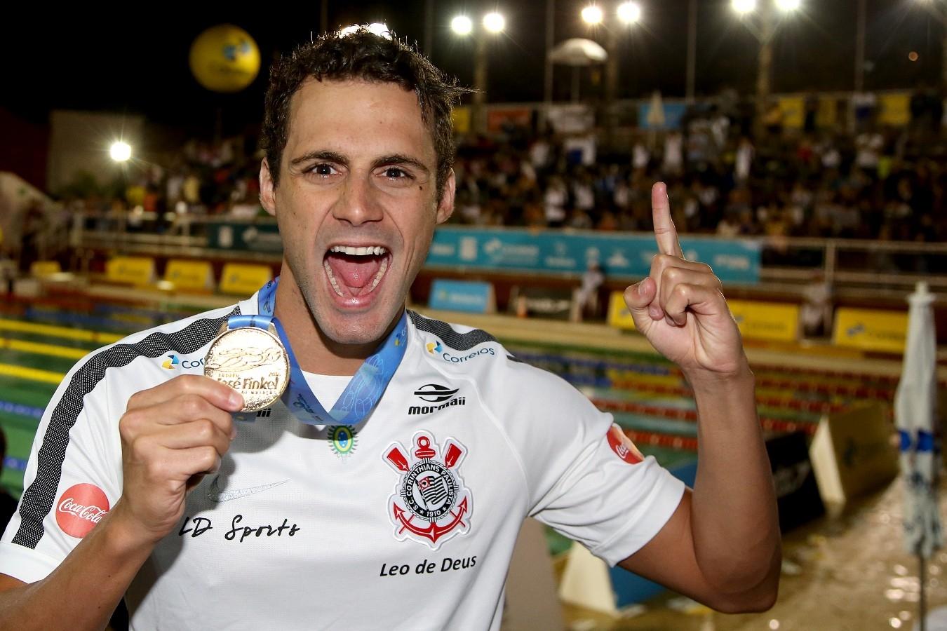 Leonardo de Deus - Trofeu Jose Finkel de Natacao no Clube Internacional de Regatas. 15 de Setembro de 2016, Santos, SP, Brasil. Foto:Satiro Sodré/SSPress.