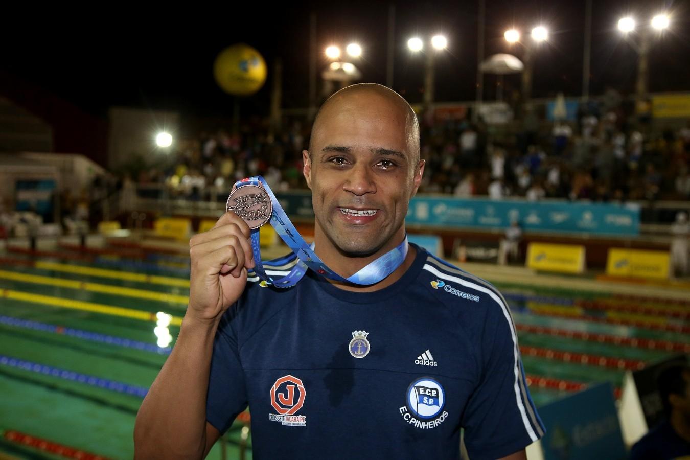 Joao Gomes - Trofeu Jose Finkel de Natacao no Clube Internacional de Regatas. 15 de Setembro de 2016, Santos, SP, Brasil. Foto:Satiro Sodré/SSPress.