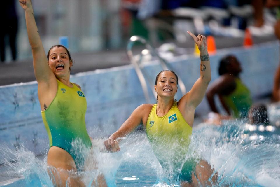 Campeonato Sul-Americano de Desportos Aquatico Absoluto. Parque Olimpico da Juventude. 28 de marco de 2021, Buenos Aires, Argentina. Foto: Satiro Sodré/SSPress/CBDA