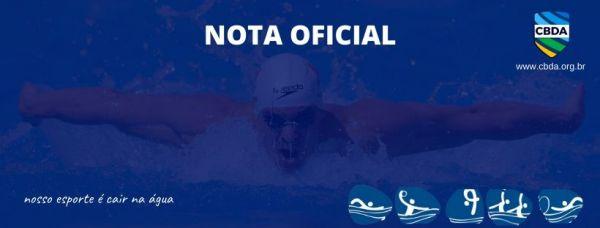 Nota Oficial - Alteração de data da Seletiva Olímpica Brasileira
