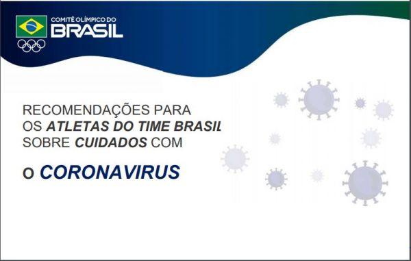 COB distribui manual aos atletas com recomendações de treinamento e prevenção ao coronavírus