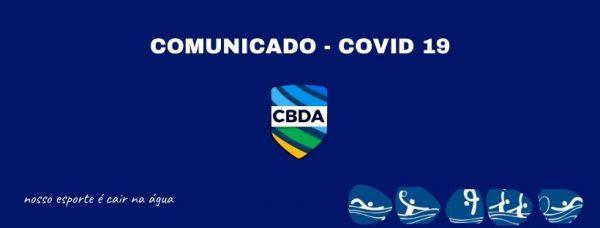 Comunicado CBDA - Primeiro Semestre 2020 - Covid-19