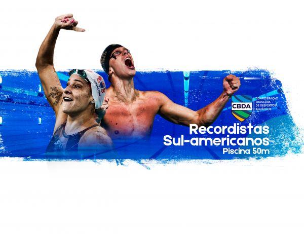 Com amplo domínio de brasileiros, CBDA lança lista de recordes sul-americanos