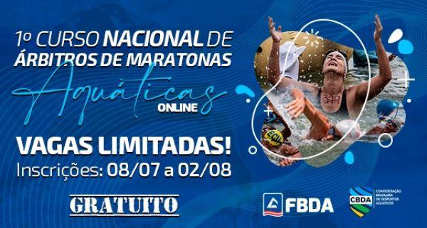 Inscrições abertas para o I Curso Nacional de Árbitros de Maratonas Aquáticas Online