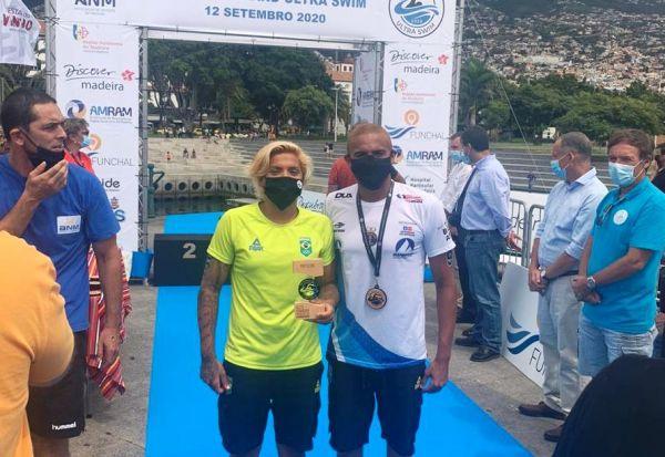 Ana Marcela é ouro e Allan do Carmo é prata na Madeira Island Ultra-Swim
