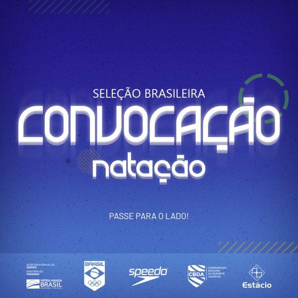 Com jovens talentos, CBDA convoca seleção brasileira de Natação para o Sul-Americano
