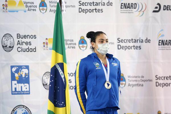 Sul-Americano Dia #02: Brasil tem primeira medalha de ouro no Nado Artístico e dobra medalhas na Natação